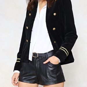 New Never Worn Nast Gal Faux Leather shorts